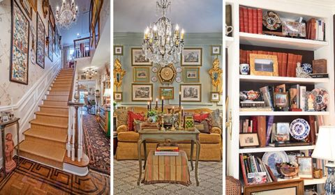 Stairs, Interior design, Room, Interior design, Light fixture, Ceiling, Shelf, Shelving, Chandelier, Ceiling fixture,