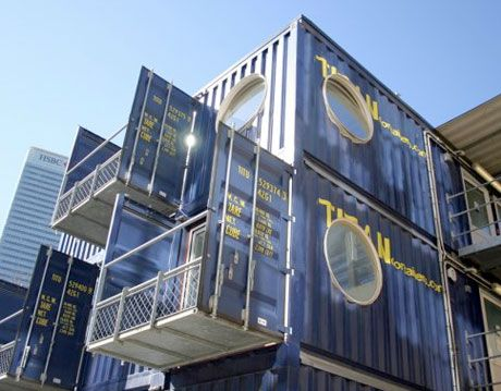 shipping container classrooms in london, tower hamlets college