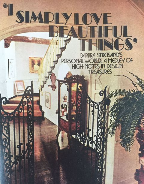 Barbra Streisand House Tour August 1974 House Beautiful,How To Update Maple Kitchen Cabinets Without Painting