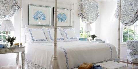 Room, Blue, Interior design, Property, Textile, Home, Wall, Furniture, Bed, Floor,
