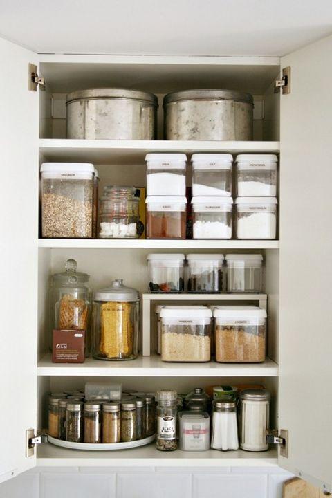 How To Organize Kitchen Cabinets, Kitchen Cupboard Interior Storage