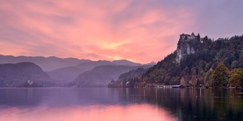 Body of water, Nature, Mountainous landforms, Natural landscape, Water resources, Highland, Landscape, Hill, Reflection, Dusk,