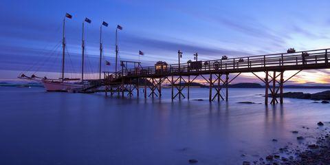 Fluid, Water, Liquid, Horizon, Dusk, Pier, Evening, Sea, Sunset, Nonbuilding structure,