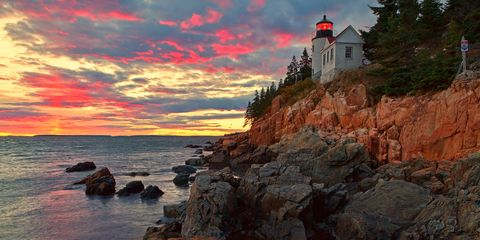 Coastal and oceanic landforms, Rock, Coast, Tower, Shore, Bedrock, Beacon, Sunset, Promontory, Outcrop,