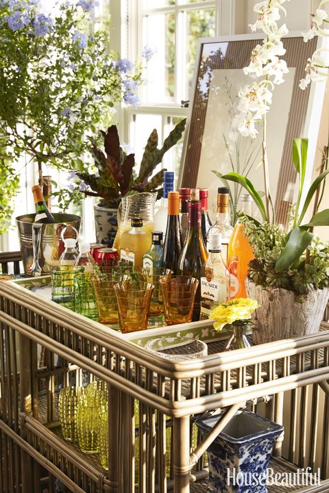 """Show, don't tell, what you're serving with a well-appointed bar. Guests feel more at home when they can help themselves."" —Bunny Williams"