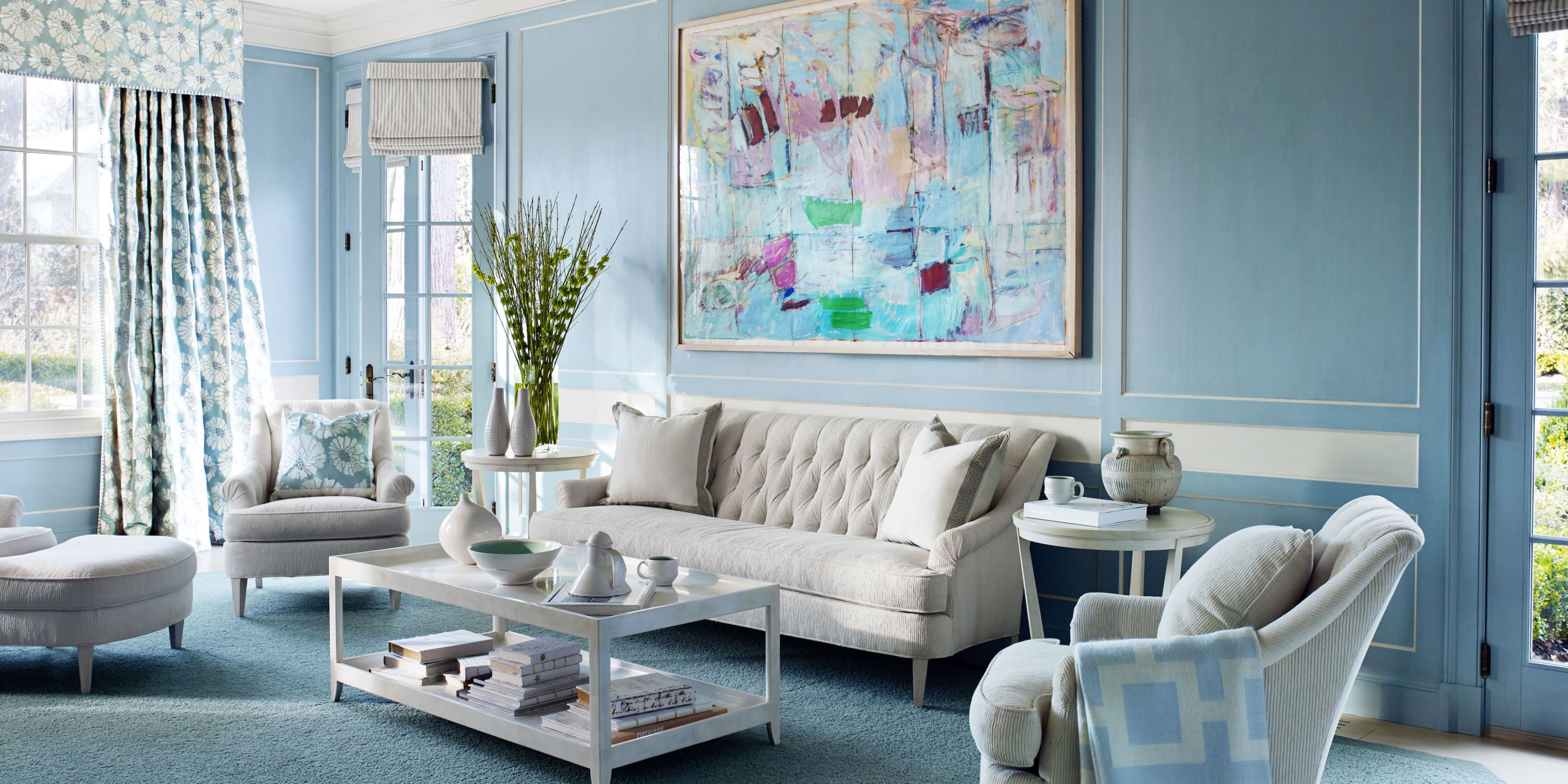 A 1920s House Embraces the Power of Blue