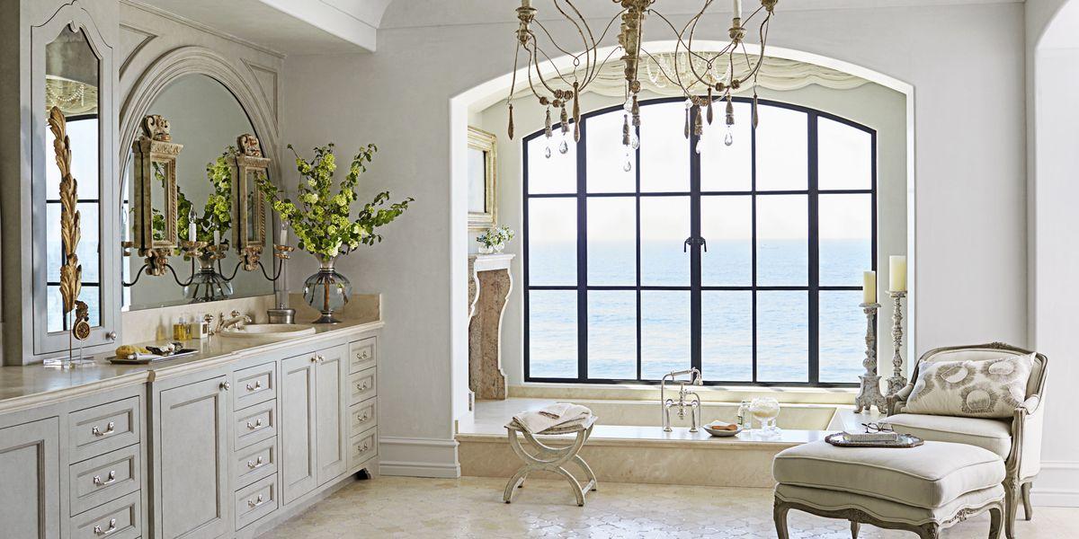bathroom fireplace relaxing master bathroom. Black Bedroom Furniture Sets. Home Design Ideas