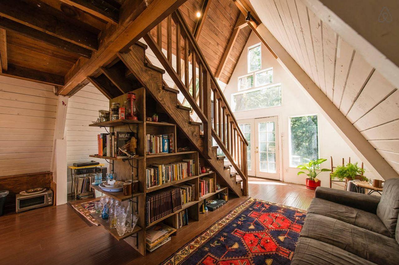 A Frame Home Interiors california livin Quikry Tiny Homes Tiny Home Vacation Rentals
