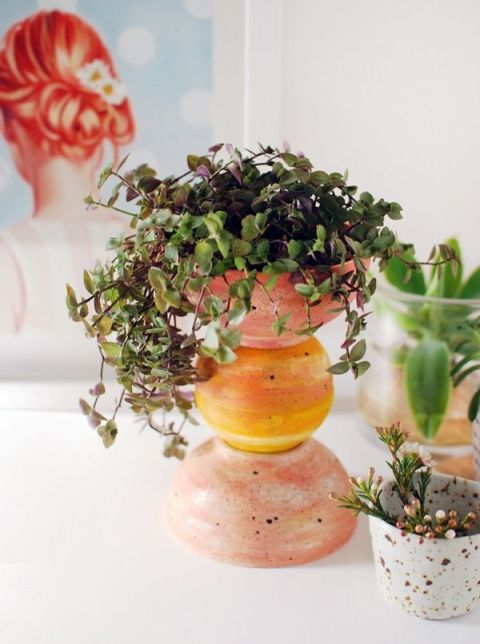 DIY Bowl Planter
