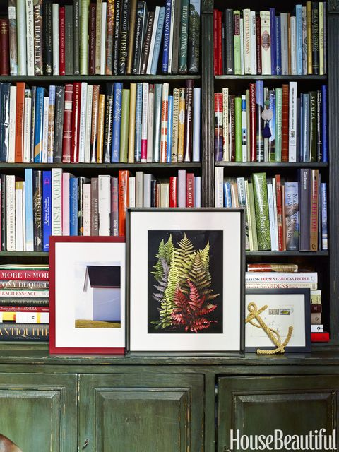 Treasured books are displayed in the Thin Man bookcase by Bunny Williams Home.   <!--EndFragment-->