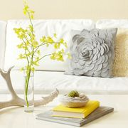 Tidy Yellow and White Couch