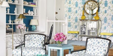 An All-Aqua Apartment Energized With Pattern