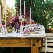 Serveware, Table, Drinkware, Tableware, Barware, Lavender, Centrepiece, Linens, Stemware, Dishware,