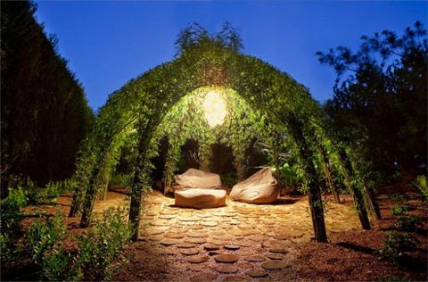 "These Willow Gazebos Give New Meaning to ""Living Rooms"""