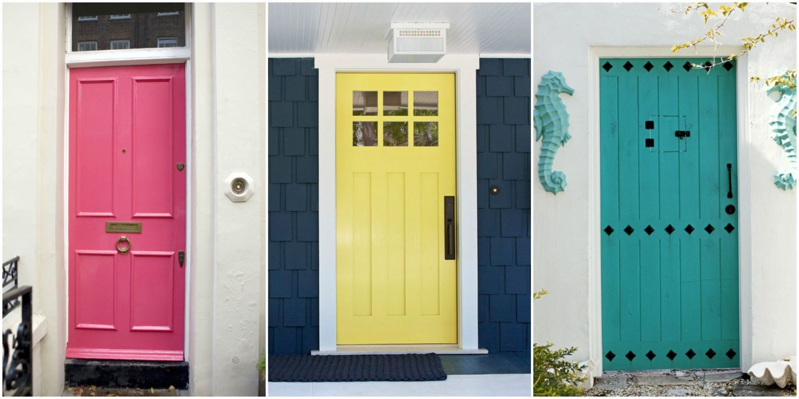 Mikkel Vang/Cliff Norton/Getty & 10 Front Door Color Meanings - What Your Front Door Says About You