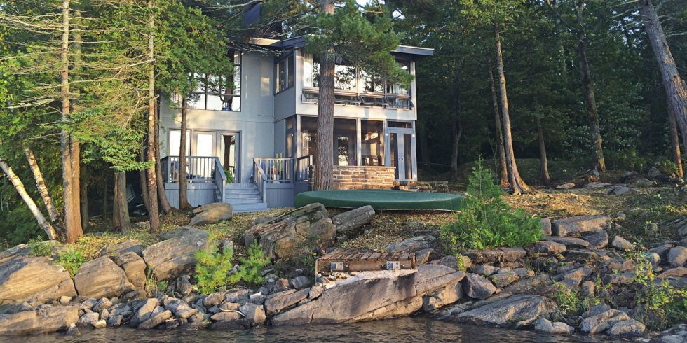 A Dated Lake House Gets a Modern Rustic Makeover