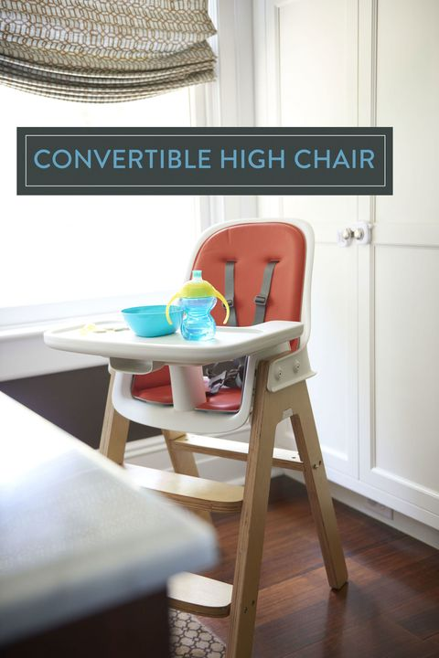"<p>A high chair has limited use, of course. But to get more bang for your buck, choose a height-adjustable model like this one, which converts to a booster seat for 3- to 5-year-olds. Look for a sturdy style that won't clash with your décor, plus removable or easy-to-clean parts. </p><p><em>Sprout high chair, <a href=""http://www.oxo.com/p-1042-sprout-high-chair-orangebirch.aspx"" target=""_blank"">oxo.com</a>; Munchkin trainer cup, <a href=""http://www.toysrus.com/product/index.jsp?productId=61592106&cp=2255957.2273443.2255981.49756276.49756286&parentPage=search"" target=""_blank"">toysrus.com</a></em><br></p>"