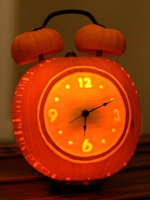 Alarm Clock Pumpkin
