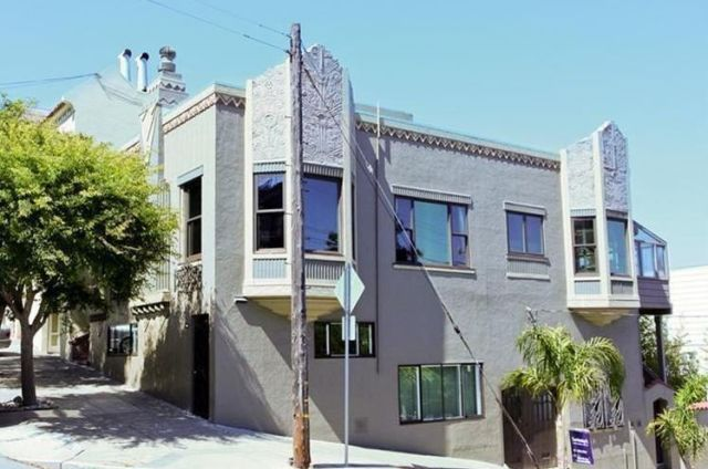 image & Purple Art Deco San Francisco Home - Colorful Exterior Home Makeover