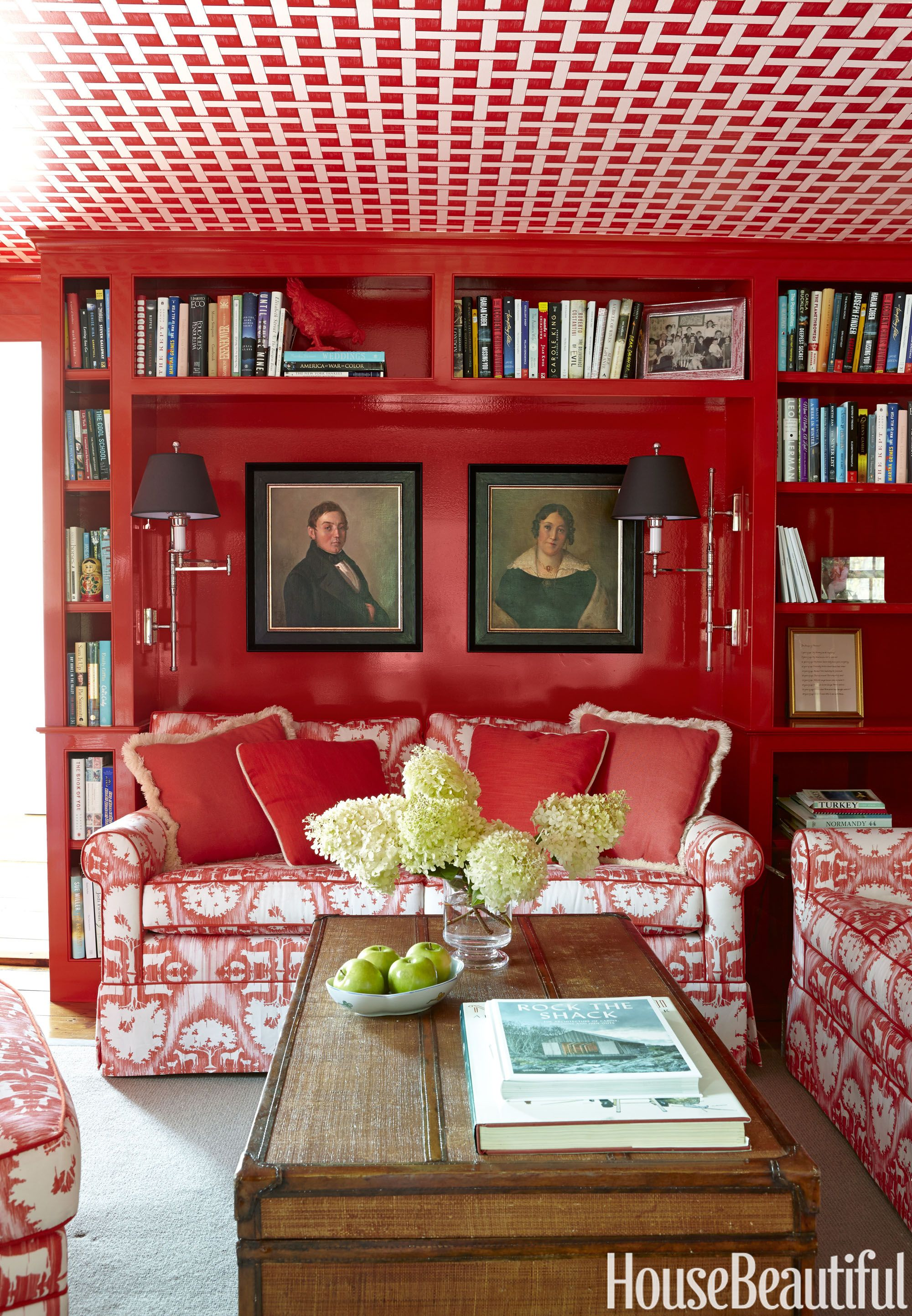 red wall living room.  13 Different Shades Of Red Best Paint Colors