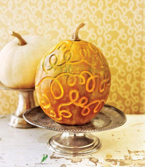 Swirly Pumpkin on Platter
