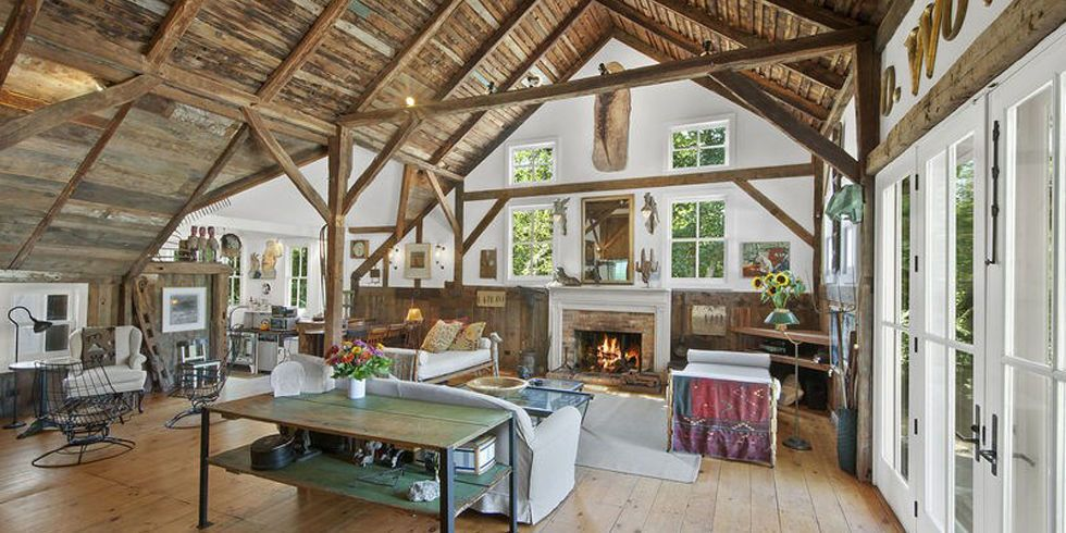 image & Converted English Barn House - Barn Home With Exposed Ceilings