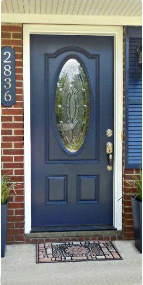 White House Black Shutters Blue Door