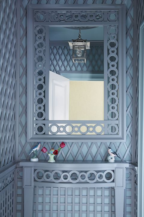 latticed bathroom