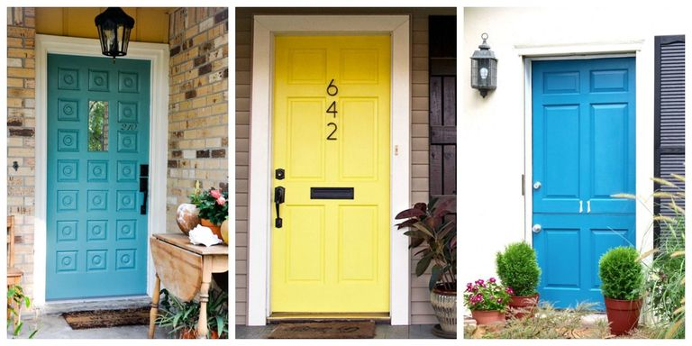 This just proves a coat of paint and new hardware can make a big  difference. Plus, check out more paint color ideas for front doors.