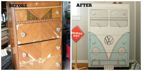 Before and After Volkswagon Dresser