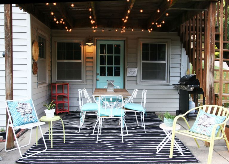A backyard patios vintage look gets a colorful makeover patio home made ginger solutioingenieria Gallery