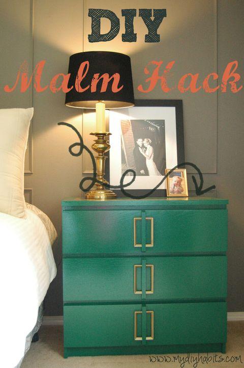 Green MALM Dresser DIY