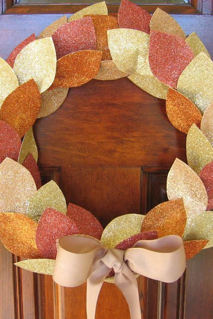 Add a little shimmer to your season's front door without having to get out the rake. Get the tutorial at Homemade by Jill »