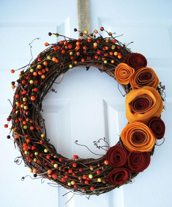 Fall Wreath Ideas Part - 49: House Beautiful
