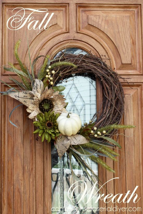 Delightful Fall Door Wreath Ideas Part - 13: House Beautiful