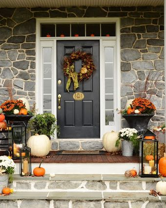 front porch fall decor 19 Fall Porch Decor Ideas   Best Autumn Front Porch Decorations front porch fall decor