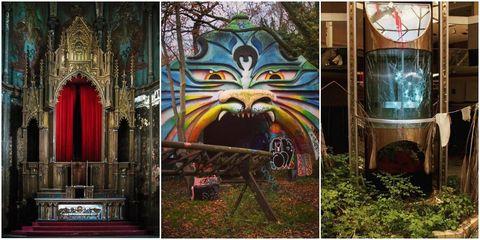 Abandoned Beautiful Collage