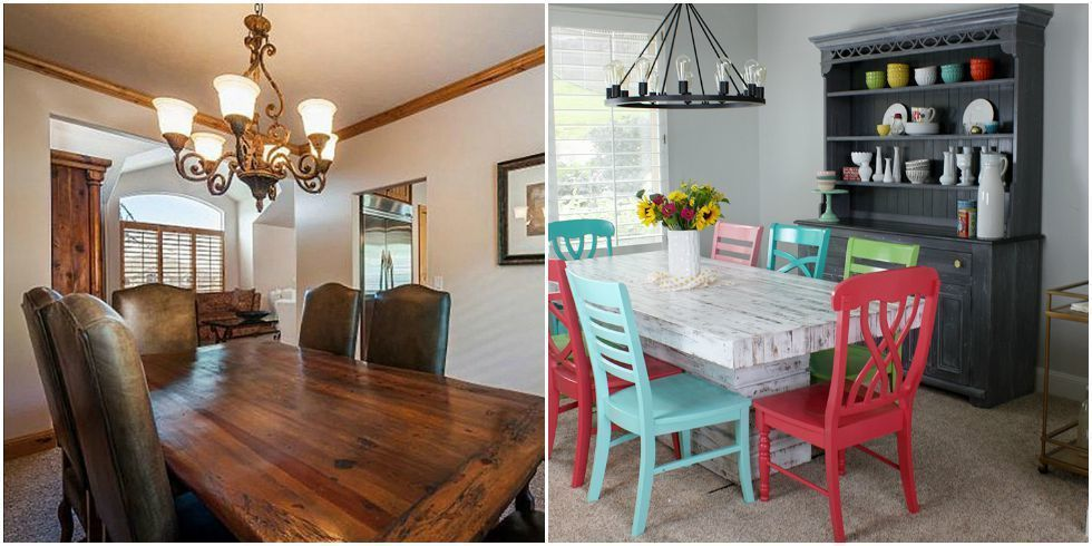 A Dining Room Makeover That Adds Playful Color - Dining Room ...