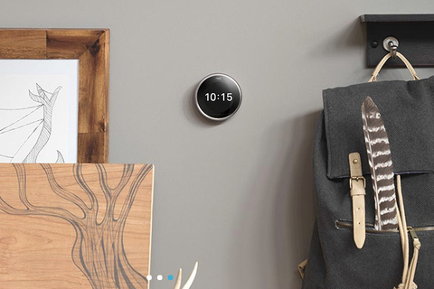 """<p>At this point, every home should have a programmable thermostat (call up your utility provider — <a href=""""https://www.directenergy.com/nest"""" target=""""_blank"""">they might even give you one at no cost, like Direct Energy</a>) . Use one to lower the temperature every day 7 to 10 degrees when you're not home or at night when you sleep, and you can <a href=""""https://www.energystar.gov/index.cfm?c=thermostats.pr_thermostats_guidelines"""">save up to $180 per year</a>. For a truly techy option, try <a href=""""https://www.directenergy.com/nest"""" target=""""_blank"""">the Nest Learning Thermostat</a> — it learns your habits to automatically adjust the temperature when you're not around.</p>"""