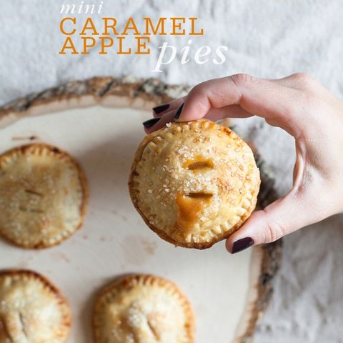 """<p>Pumpkin and chocolate cupcakes combine the classic colors and flavors of Halloween.</p> <p><strong>Get the recipe from <a href=""""http://www.freutcake.com/in-the-kitchen/mini-caramel-apple-hand-pies/"""" target=""""_blank"""">Freutcake</a>.</strong></p>"""