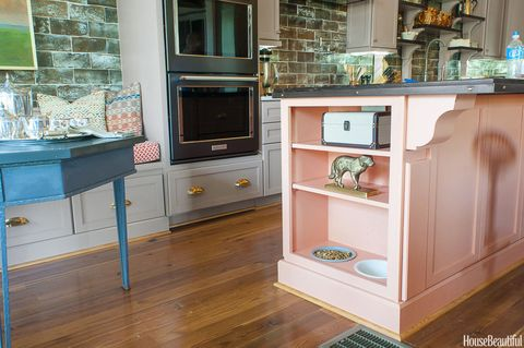 Kitchen of the Year Pink Cabinet Dog Shelf