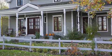 Home Exterior in Fall