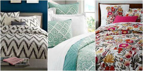 Blue, Green, Room, Interior design, Bedding, Property, Textile, Bedroom, Wall, Teal,