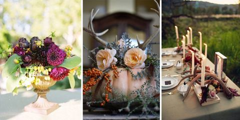 9 Dramatic Ideas for Floral Fall Centerpieces