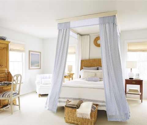 "<p>Patterned fabrics in subdued colors add soft dimension to a room, like in this <a target=""_blank"" href=""http://www.countryliving.com/home-design/house-tours/news/g2240/ingrid-leess-connecticut-farmhouse/?slide=9"">Connecticut farmhouse.</a></p>"