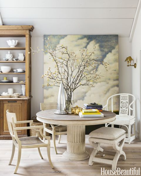 Cloud Painting in Kitchen