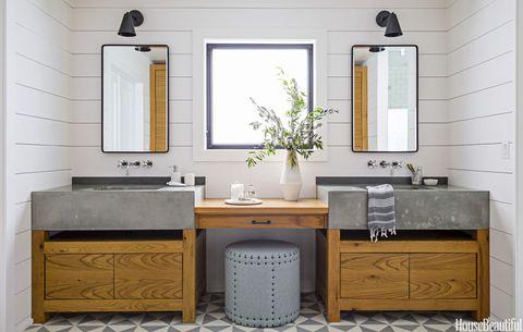 A Dark Master Bath Turns Cozy And Modern Spa Bathroom