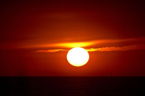 Sun, Sunset, Yellow, Atmosphere, Astronomical object, Dusk, Red sky at morning, Sunrise, Afterglow, Red,