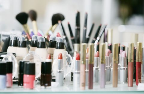 "<p>As a rule of thumb, makeup should be <a href=""http://www.goodhousekeeping.com/beauty/makeup/tips/a19025/beauty-products-in-the-fridge/"" target=""_blank"">stored at room temperature</a> — making the ever-changing temp in your bathroom (from sweltering when someone's showering to cool when it's not in use) not ideal. Perhaps this is just another reason you need that <a href=""http://www.goodhousekeeping.com/home/decorating-ideas/g1143/beautiful-vanity-inspiration/"" target=""_blank"">gorgeous vanity</a> for your bedroom?</p>"