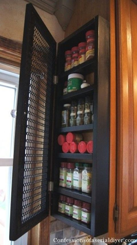 Side Of Cabinet Storage Ideas New Storage Uses For The Side Of Your Cabinet